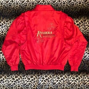 Vintage Red Satin Riviera Casino Las Vegas Jacket